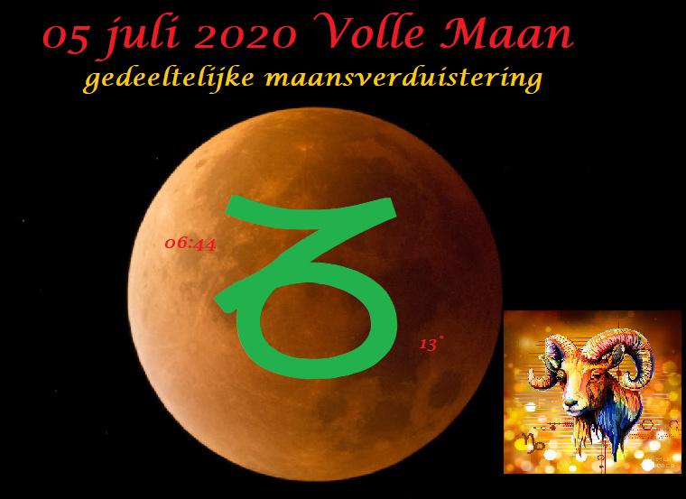 Volle Maan en maansverduistering in Steenbok - 5 juli