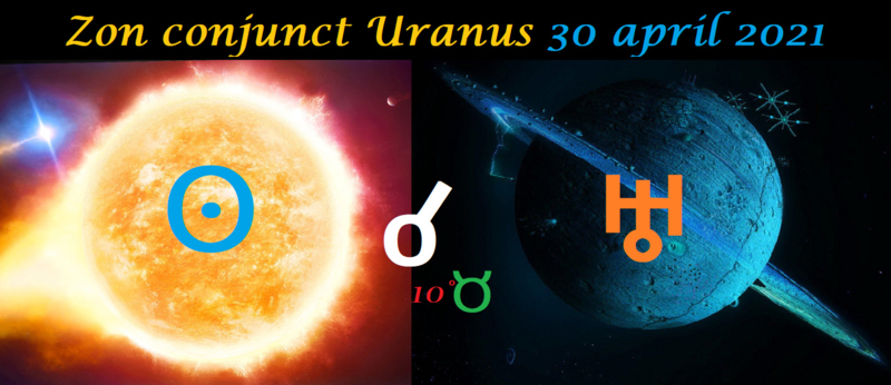 Zon conjunct Uranus - 30 april 2021