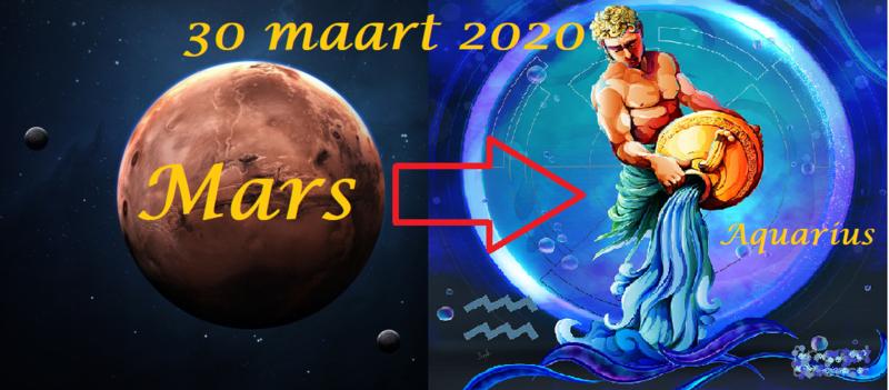 Mars in Waterman - 30 maart 2020