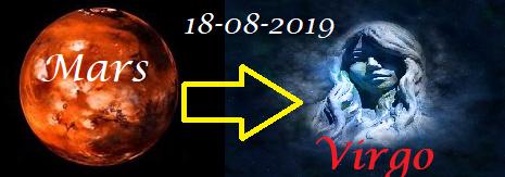 Mars in Maagd -  18 augustus 2019