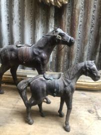 Leren paardje