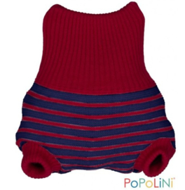 PopoLini Wolbroek 'Rood & donkerblauw'