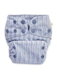 Econaps Modern Cloth Nappy 'Indigo Pinstripe'