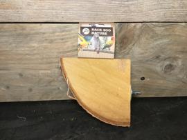 Plateau quarter wood slice