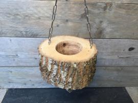 Voerbakje van een boomsta
