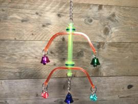 Plexiglas speelgoed met belletjes en dobbelstenen
