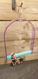 Gekleurd plexiglas nagelstok schommel