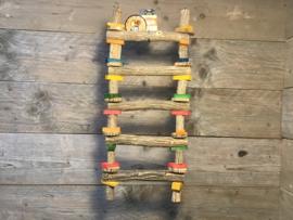 Ladder 5 treden hout 54 cm