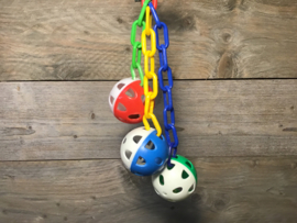 Speelballen met belletjes