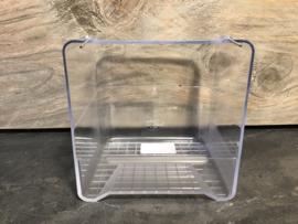 Transparant badje met verbuigbare haakjes