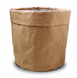 SIZO paper bag natural | Leren look D30 H30cm