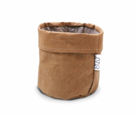SIZO paper bag natural | Leren look D13 H13cm