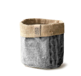 Sizo bag jute grey Ø 15 cm