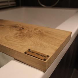 Beau Wonen Badplank Eikenhout standaard 80 cm met tablet sleuf