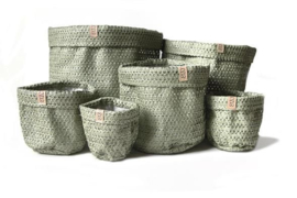 SIZO knitted paper bag Olive (6 formaten)