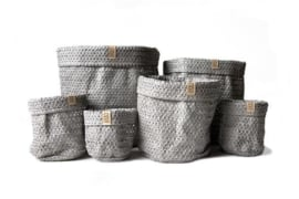 SIZO knitted paper bag Grey (6 formaten)