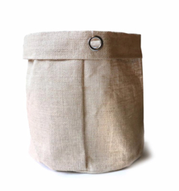 SIZO jute bag natural/metal ring D25 H25cm