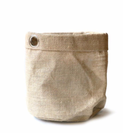 SIZO jute bag natural/metal ring D20 H20cm