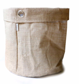 SIZO jute bag natural/metal ring D30 H30cm