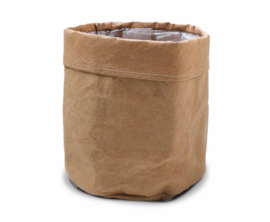 SIZO paper bag natural | Leren look D20 H20cm
