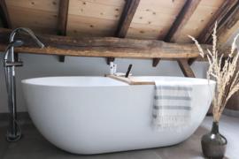 Beau Wonen badplank Eikenhout op maat en naar wens gemaakt