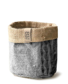 Sizo bag jute grey Ø 30 cm