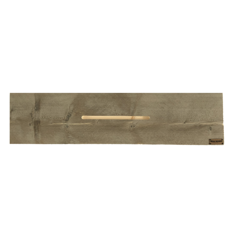 Beau Wonen Badplank steigerhout standaard 80 cm met tablet sleuf