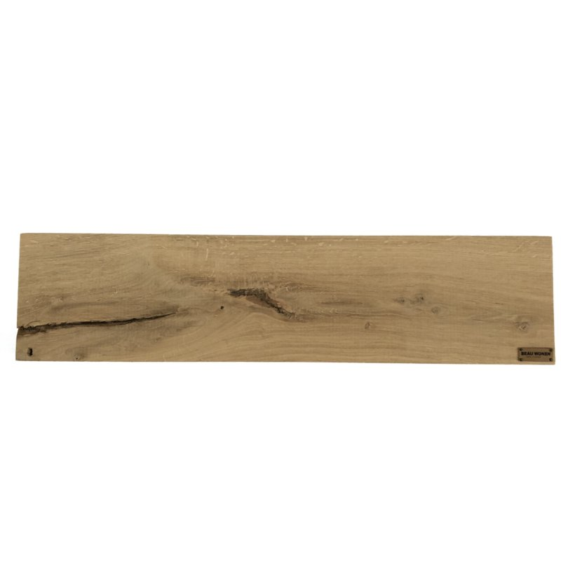 Beau Wonen badplank van eikenhout standaard 80 cm (zonder inkepingen)