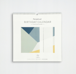 SUNNY SHAPES BIRTHDAY CALENDAR