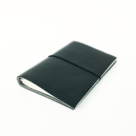 SAVAN LEDER NOTEBOOK ZWART