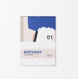 BIRTHDAY CALENDAR ABSTRACT COLOR A4