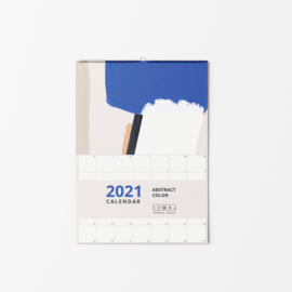 2021 WALL CALENDAR ABSTRACT COLOR A4/A3