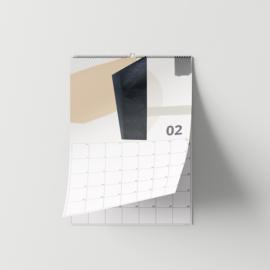 2021 MUURKALENDER ABSTRACT COLOR A4 / A3