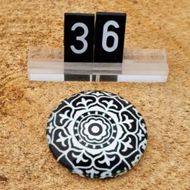Switch Steen 30mm Mandala Zwart-Wit
