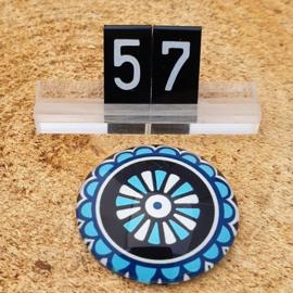 Switch Steen 30mm Mandala Blauw