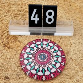 Switch Steen 30mm Mandala Fuchsia