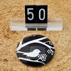 Switch Steen 30mm Vogel Zwart-Wit