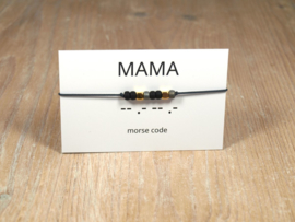 Morsecode Armband Mama Goud