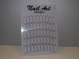 Nail Art Display - Wit