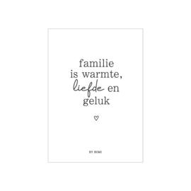 Kaart / Familie is warmte, liefde en geluk