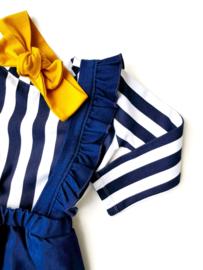 Suspender Skirt Dark Blue Denim