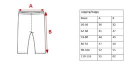 Maattabel Legging/Baggy