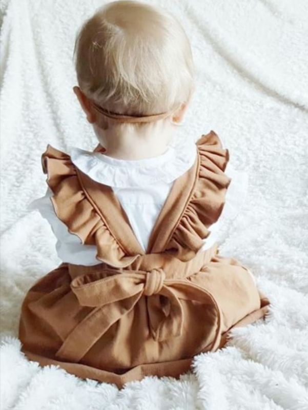 Suspender Skirt Cognac