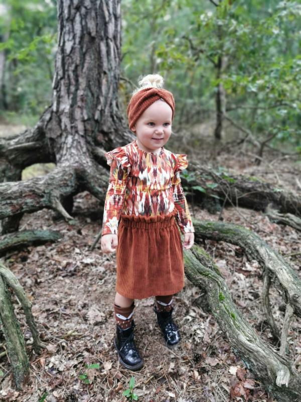 High Waist Skirt Jersey Rib