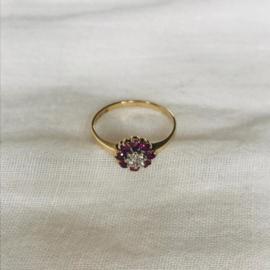 Ruby Flower 9 Karat Ring