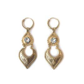 Sahara  Aquamarine Dangle Earrings