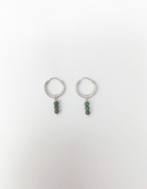 3 Malachite Stone Earrings