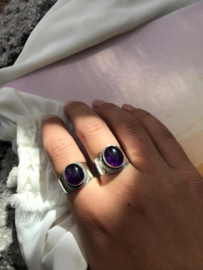 Snow Moon Ring Silver