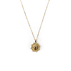 Roma Coin Chunky Necklace
