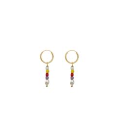 Rainbow Pearl Earrings
